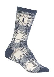 Ralph Lauren Ombre Plaid Crew Socks