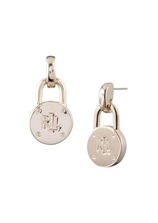 Ralph Lauren Padlock Drop Earrings