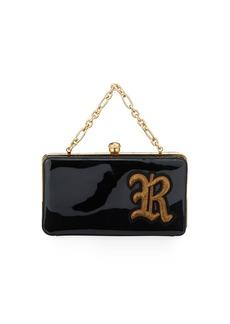 Ralph Lauren Patent R Framed Clutch Bag