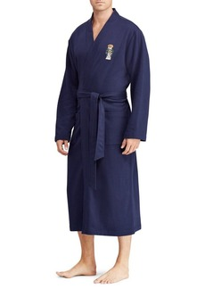Ralph Lauren Polo Bear Fleece Kimono Robe