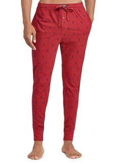 Ralph Lauren Pony-Print Cotton Jogger Pants