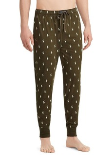 Ralph Lauren Pony Print Cotton Jogger Pants