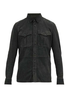 Ralph Lauren Purple Label Barron lambskin-suede overshirt