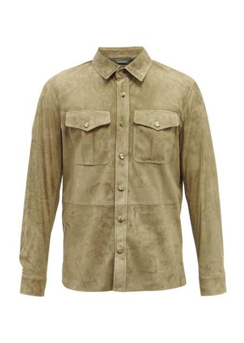 Ralph Lauren Purple Label Barron patch-pocket suede overshirt