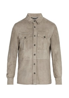Ralph Lauren Purple Label Barron point-collar suede jacket