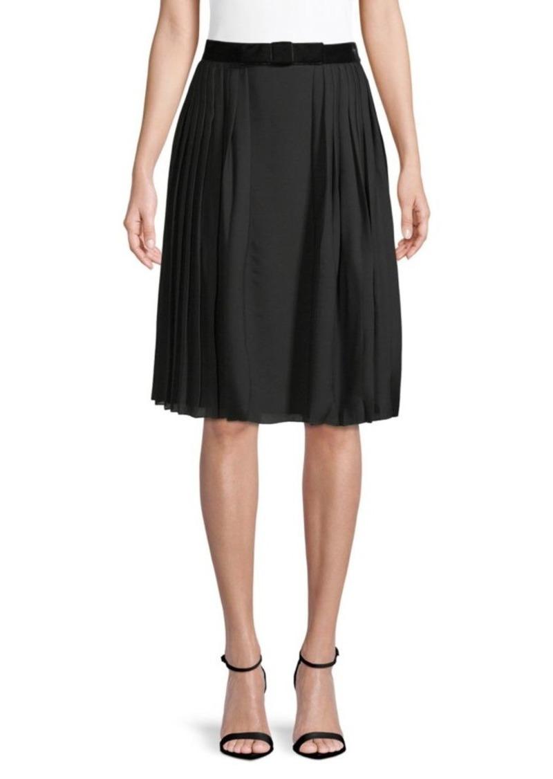 Ralph Lauren Chantel Silk Pleated Skirt
