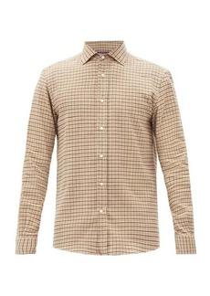 Ralph Lauren Purple Label Checked cotton-flannel shirt