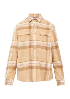 Ralph Lauren Purple Label Checked wool overshirt