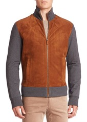 Ralph Lauren Colorblock Suede Blend Jacket
