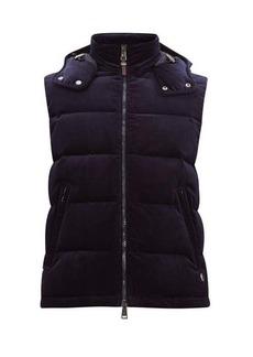 Ralph Lauren Purple Label Cotton-blend corduroy hooded gilet