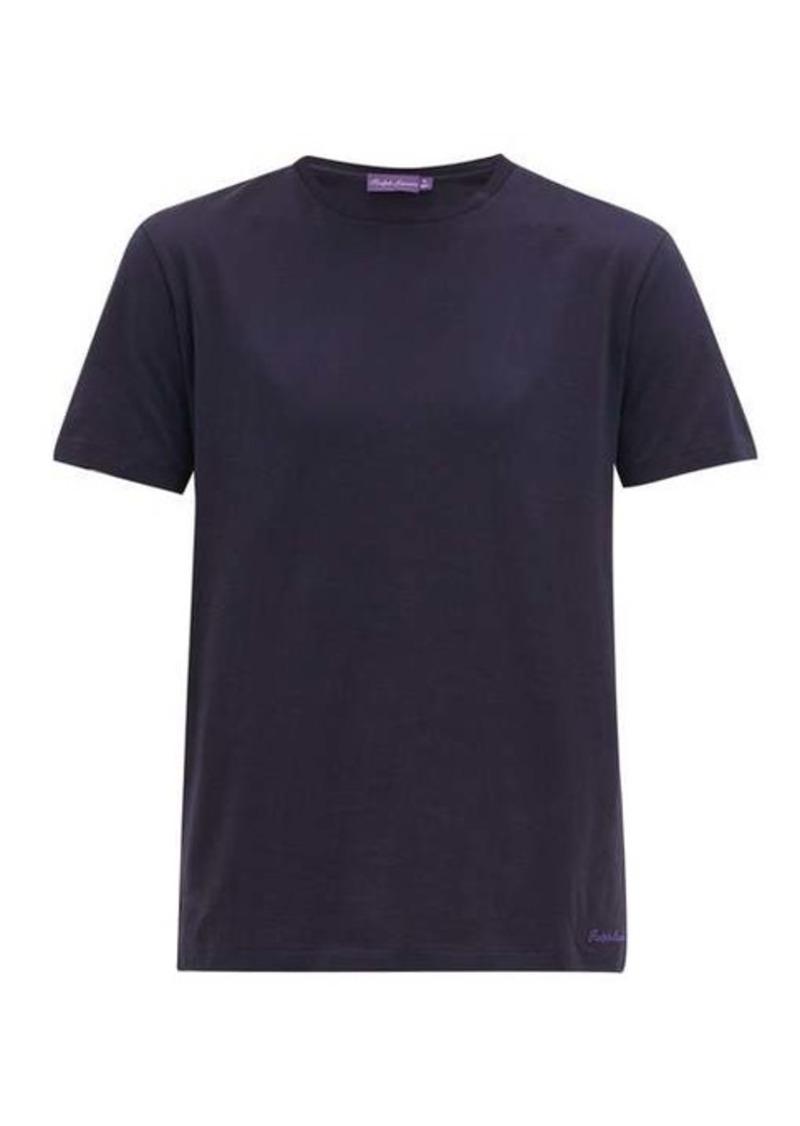 Ralph Lauren Purple Label Crew-neck cotton-lisle jersey T-shirt