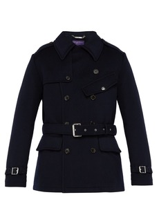 Ralph Lauren Purple Label Double-breasted melton wool trench coat