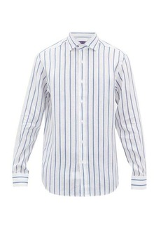 Ralph Lauren Purple Label Double-stripe linen shirt