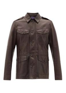 Ralph Lauren Purple Label Duval flap-pocket plongé-leather jacket