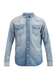 Ralph Lauren Purple Label Faded-denim Western shirt