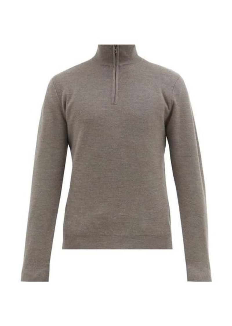 Ralph Lauren Purple Label Half-zip wool and cashmere-blend sweater
