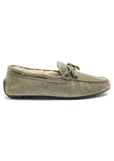 Ralph Lauren Purple Label Harold shearling-lined suede slippers