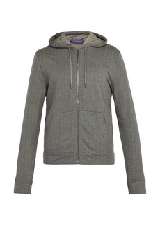 Ralph Lauren Purple Label Herringbone-jersey hooded sweatshirt