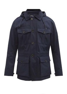 Ralph Lauren Purple Label Hooded cotton field jacket