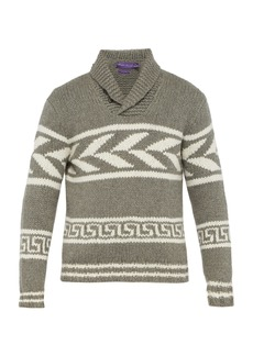 Ralph Lauren Purple Label Intarsia knit cashmere sweater