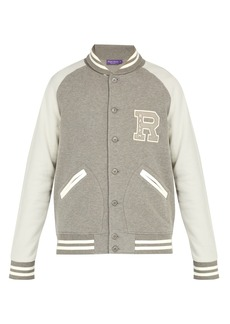 Ralph Lauren Purple Label Logo-embroidered cotton-blend varsity jacket