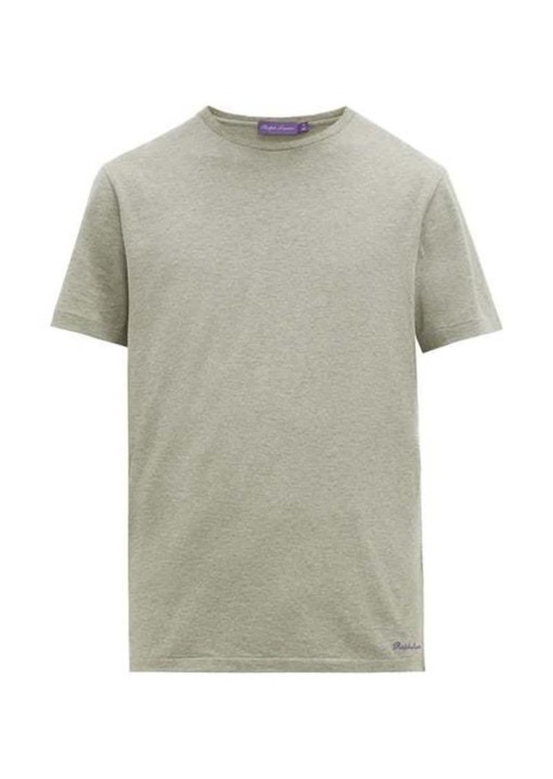 Ralph Lauren Purple Label Logo-embroidered cotton-lisle T-shirt