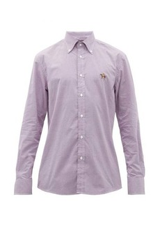 Ralph Lauren Purple Label Logo-embroidered gingham cotton shirt