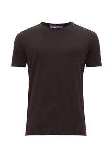 Ralph Lauren Purple Label Logo-embroidered pima-cotton lisle T-shirt