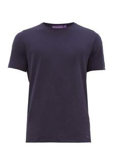 Ralph Lauren Purple Label Logo-embroidered pima-cotton lisle T-shirt