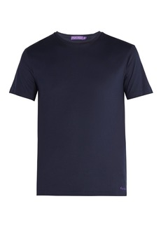 Ralph Lauren Purple Label Logo-embroidered short-sleeved cotton T-shirt