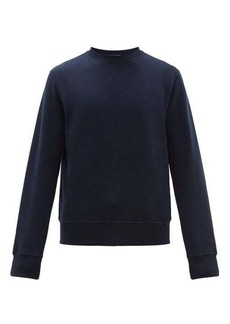 Ralph Lauren Purple Label Madison logo-embroidered cotton-blend sweatshirt