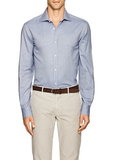 Ralph Lauren Purple Label Men's Aston Herringbone Cotton Shirt
