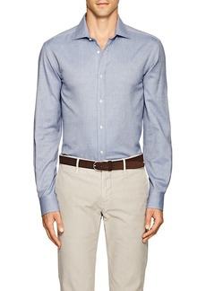 Ralph Lauren Purple Label Men's Aston Herringbone Cotton Shirt
