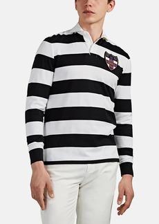 Ralph Lauren Purple Label Men's Block-Striped Pima Cotton Rugby Shirt