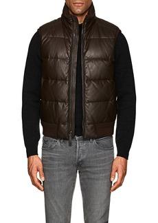 Ralph Lauren Purple Label Men's Burwood Down-Quilted Leather Vest