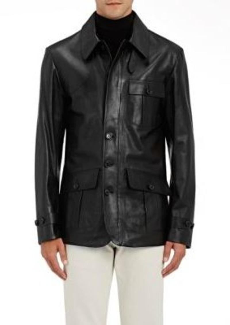 Ralph Lauren Purple Label Men's Calfskin Shirt Jacket