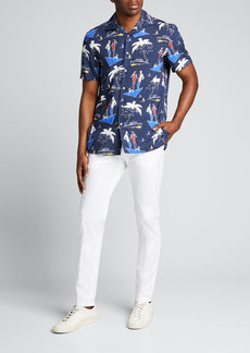 Ralph Lauren Purple Label Men's Capri Riviera-Print Camp Shirt