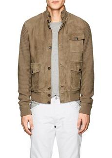 Ralph Lauren Purple Label Men's Slim Cashmere & Suede Cardigan Jacket