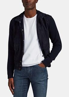 Ralph Lauren Purple Label Men's Cashmere & Suede Patchwork Jacket