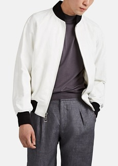 Ralph Lauren Purple Label Men's Cotton-Linen Baseball Jacket