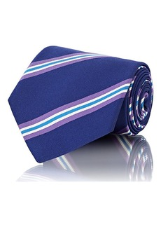 Ralph Lauren Purple Label Men's Diagonal-Striped Silk-Blend Faille Necktie