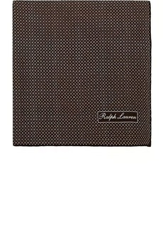 Ralph Lauren Purple Label Men's Diamond-Print Mulberry Silk Crêpe De Chine Pocket Square