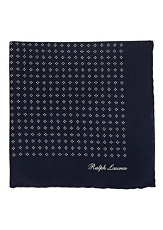 Ralph Lauren Purple Label Men's Diamond-Print Silk Crepe Pocket Square