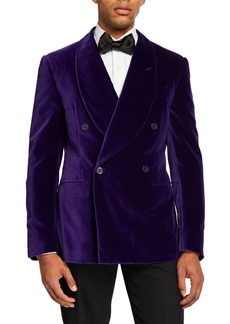 Ralph Lauren Purple Label Men's Double-Breasted Velvet Dinner Jacket  Purple