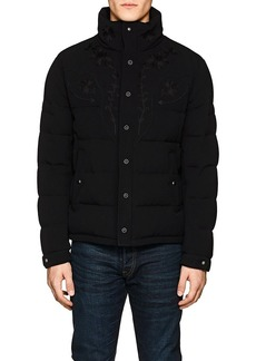 Ralph Lauren Purple Label Men's Embroidered Wool Puffer Coat
