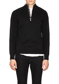 Ralph Lauren Purple Label Men's Slim Mixed-Knit Wool Sweater