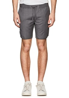 Ralph Lauren Purple Label Men's Mélange Wool Drawstring Shorts