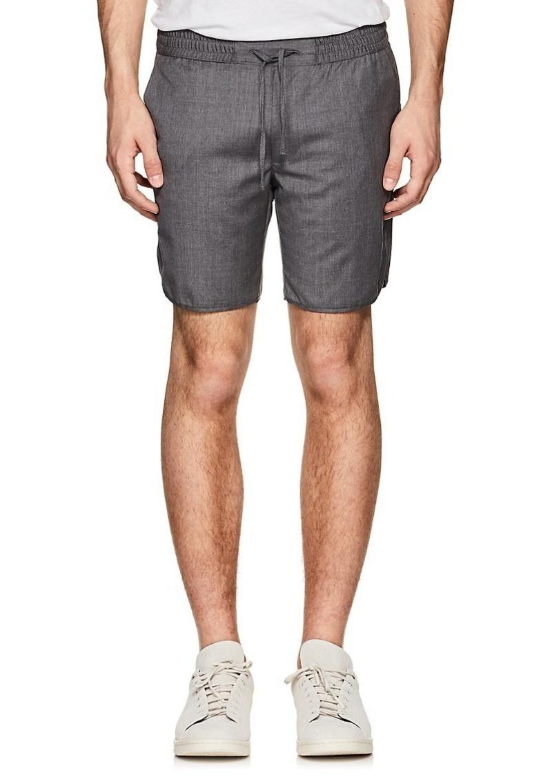 Ralph Lauren Purple Label Men's Mélange Wool Drawstring Shorts