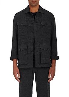 Ralph Lauren Purple Label Men's Patchwork Cashmere-Silk Shirt Jacket