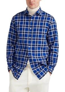 Ralph Lauren Purple Label Men's Plaid Cotton & Linen Shirt